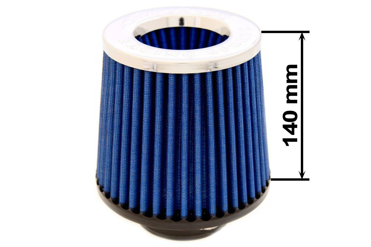 Filtr stożkowy SIMOTA JAU-X02202-06 80-89mm Blue - GRUBYGARAGE - Sklep Tuningowy